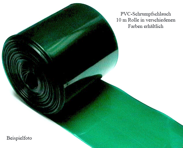 Schrumpfschlauch, PVC|10-m-Stücke1